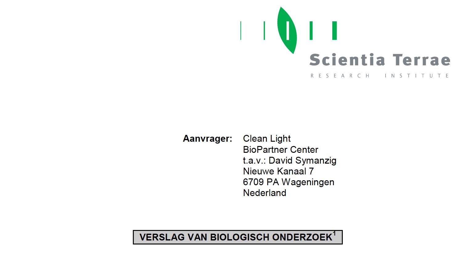Scientia Terrae: Verslag van biologisch onderzoek Bloembollen – Fusarium