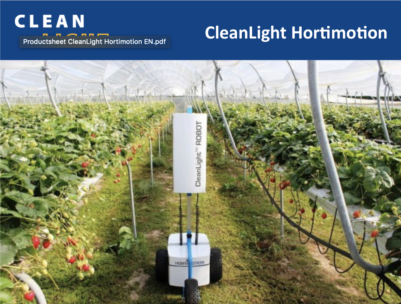 Productsheet CleanLight Hortimotion